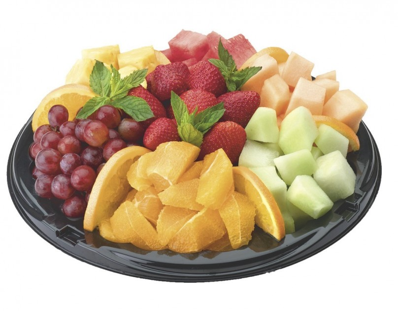 large fresh fruit tray