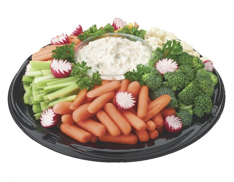 Large veggie and dip tray